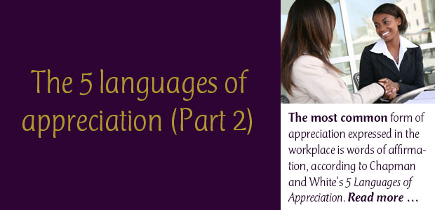 5 Languages of Appreciation: Part 2