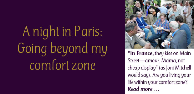 A Night in Paris - Going Beyond My Comfort Zone, Dinner with Jim Haynes
