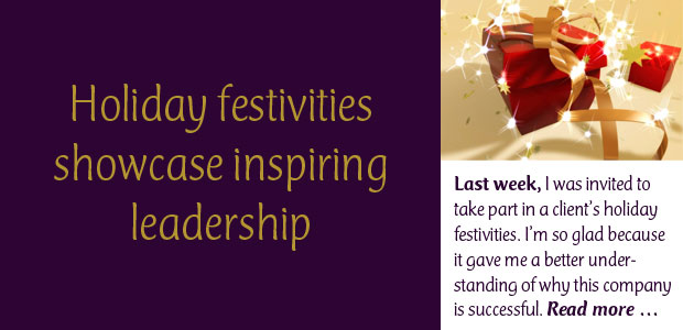 Holiday Festivities Showcase Inspiring Leadership