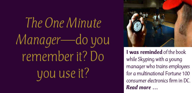 The One Minute Manager—Do You Remember It? Do You Use It?