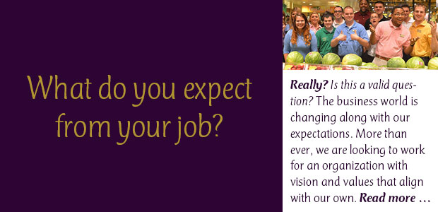 What Do You Expect from Your Job?