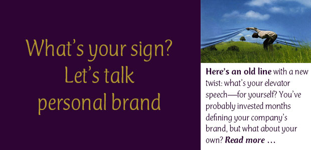 What's Your Sign: Let's Talk Personal Brand