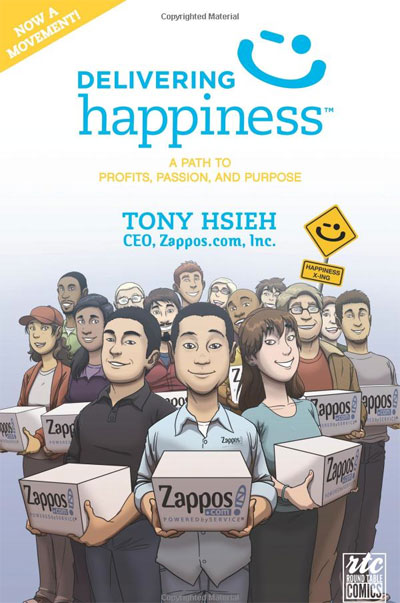 Delivering Happiness at Work Book Cover