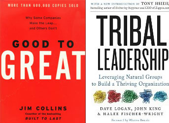 Good to Great and Tribal Leadership Book Covers