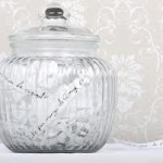 Jar of Notes with New Year's Resolutions