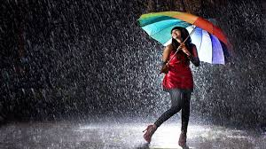 Dancing in the Rain with Umbrella