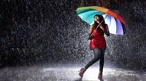 Dancing in the Rain with Umbrella