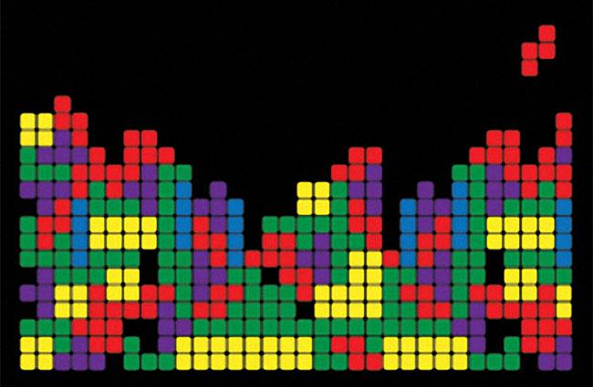 Tetris Blocks Videogame Screenshot