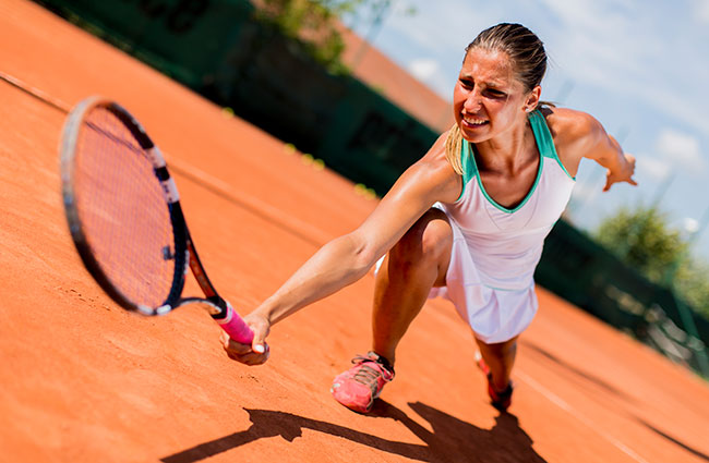 Focused Woman Tennis Player