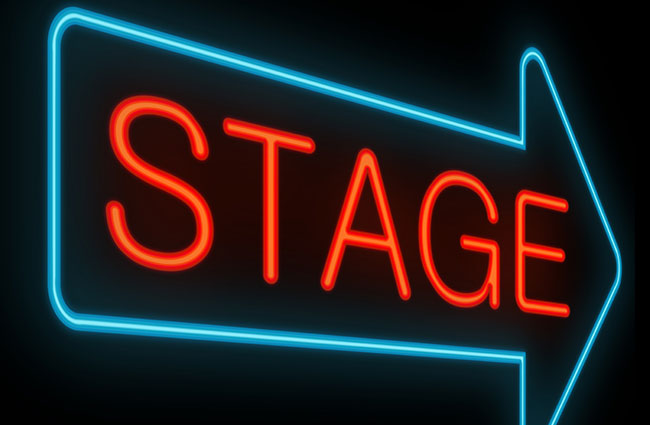 Sign Pointing to Stage