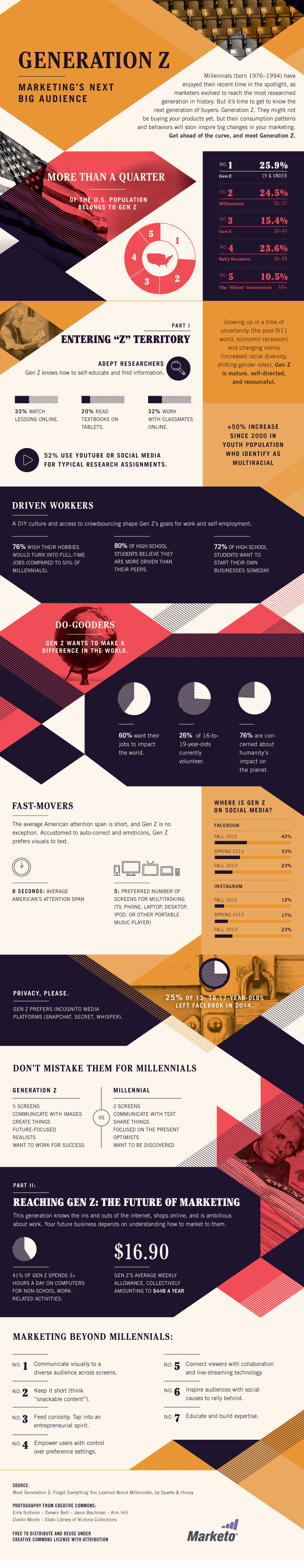 Generation Z: Marketing's Next Big Audience Infographic