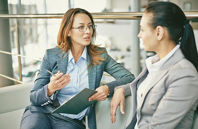 Boss Giving Feedback to Employee