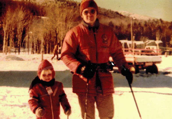 Dad Ski Patroller and Hiram Towle