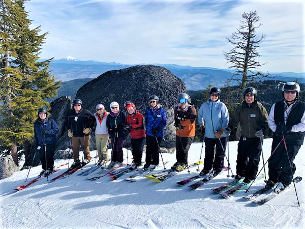 Mt. Ashland Association Board on Mountain