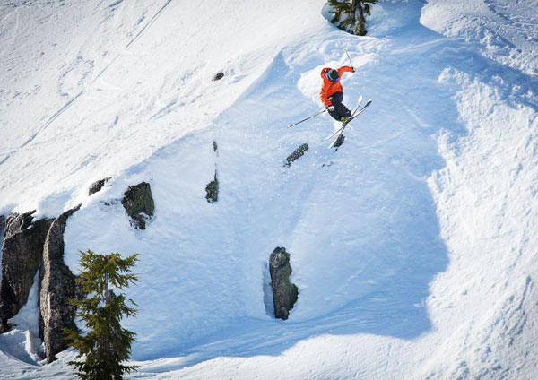 Skier on Mt. Ashland