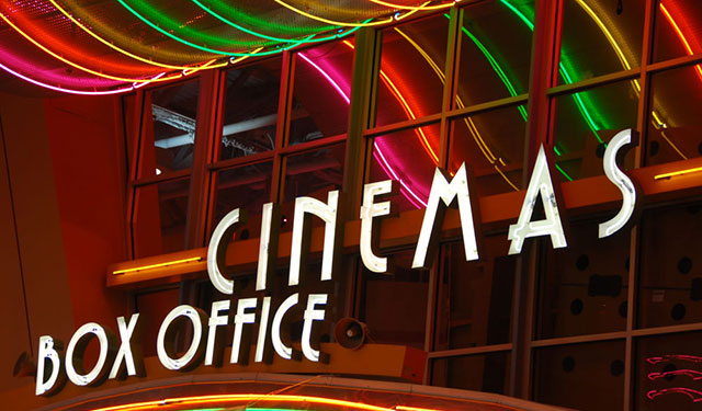 Cinema Box Office Sign Marquee